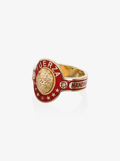 18K Yellow Gold Strength cigar band ring