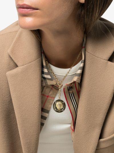18K yellow gold Strength heavy belcher chain diamond necklace
