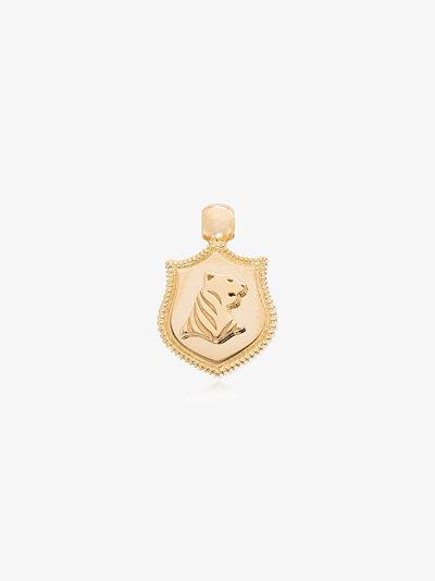 18K yellow gold Tiger Audemus small crest charm