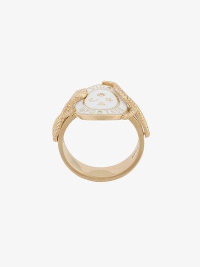 18K yellow gold Wholeness cigar band diamond ring
