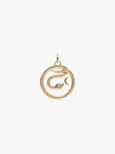 18K Yellow Gold Wholeness medium diamond medallion charm