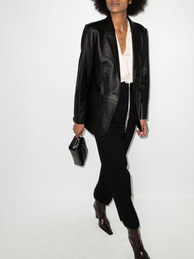 '70s leather blazer