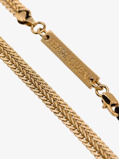 gold-plated Billie herringbone glasses chain