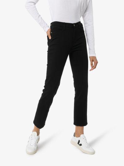Denim Le High straight leg jeans