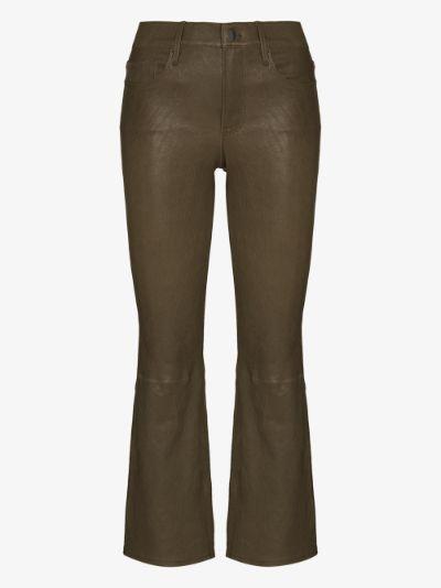 Le Crop Mini Boot leather jeans