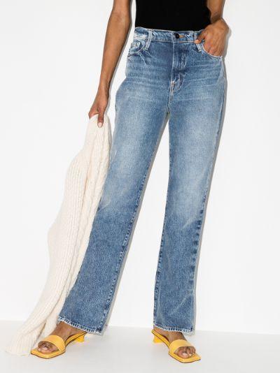 Le Drew pleated hem jeans