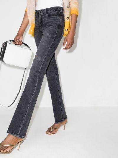 Le Mini Boot Distressed Jeans