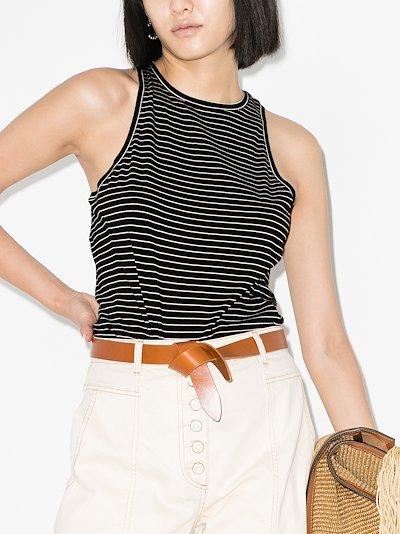 stripe cotton tank top