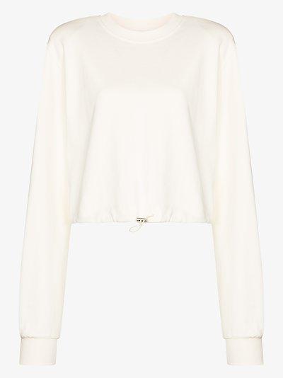 drawstring cotton sweater