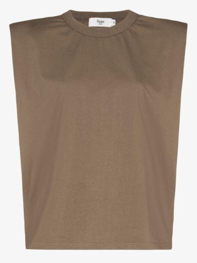 Eva padded shoulder T-shirt