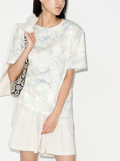 jeanette tie-dye padded T-shirt