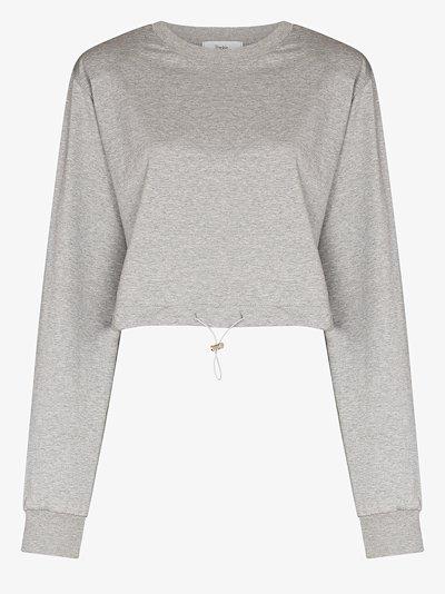 Padded shoulder sweatshirt