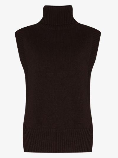 Split hem wool sweater