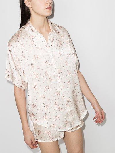 Fifi floral print silk pyjama shirt