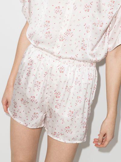 Fifi floral print silk pyjama shorts