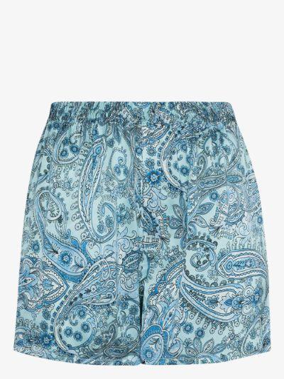 Fifi paisley print silk pyjama shorts