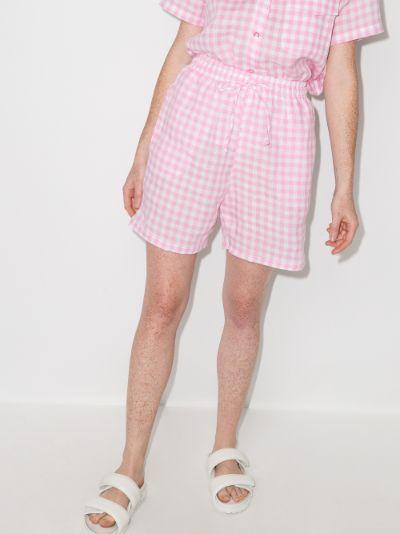 lou gingham shorts