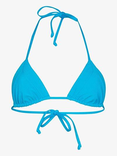 Sky triangle bikini top