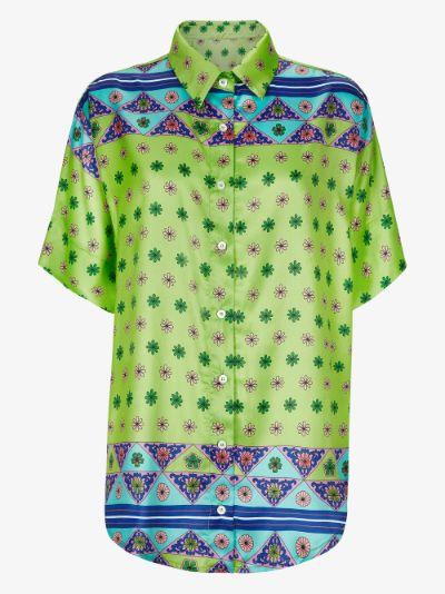 X Browns Fifi scarf print silk shirt