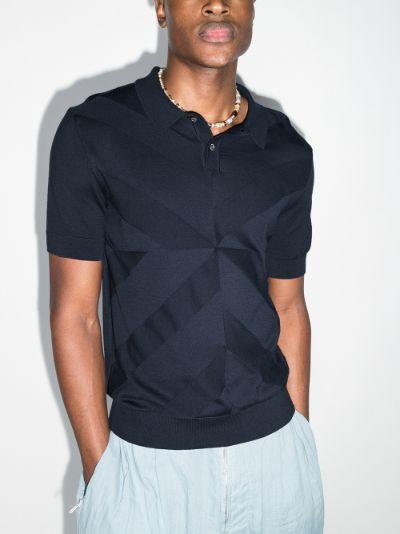 Angra jacquard polo shirt