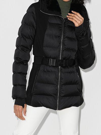 Anouk padded belted ski jacket