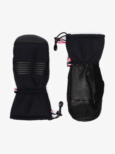 black Albinen panelled mittens