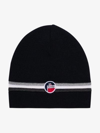 navy WENGEN II wool beanie hat