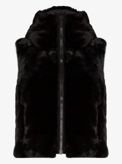 Pegase faux fur ski gilet