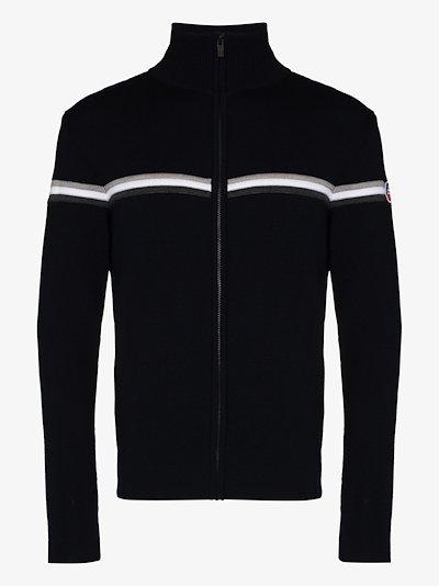 Wengen Fiz 2 striped wool zip-up sweater