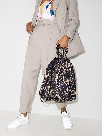 black Seduction printed drawstring tote bag