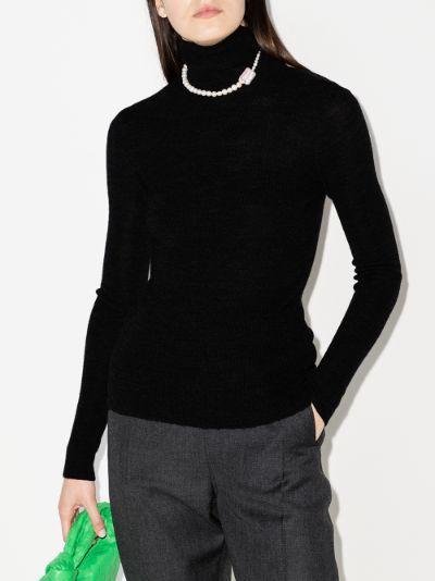 cutout back merino wool sweater