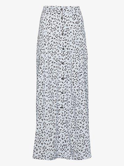floral button-down midi skirt