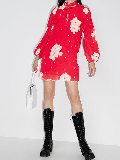 floral crêpe georgette mini dress