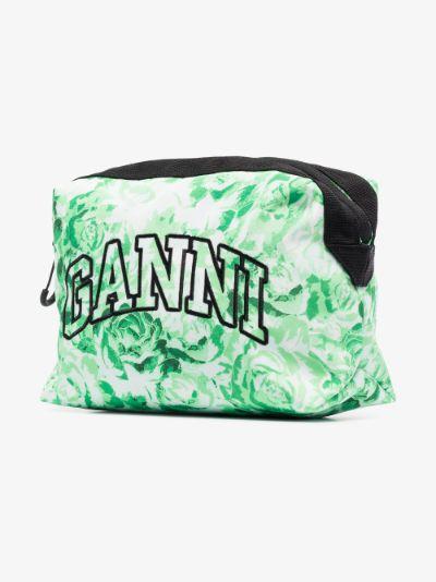 green rose logo makeup bag
