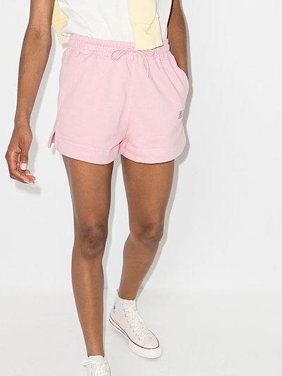 logo-embroidered drawstring track shorts