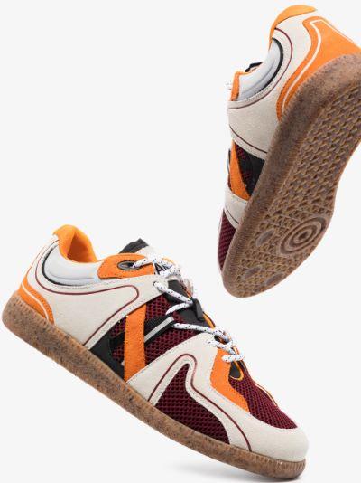 multicoloured wave pattern low top sneakers