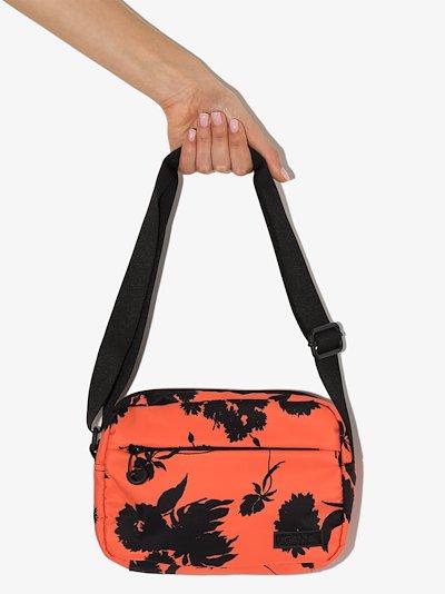 orange floral cross body bag