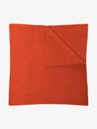 orange recycled wool scarf