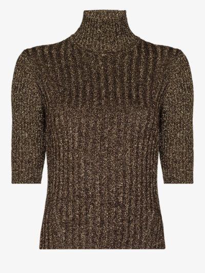 ribbed knit turtleneck top