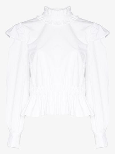 ruffled collar blouse