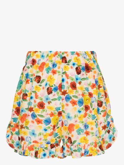 Software floral pyjama shorts