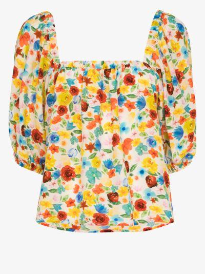 Software floral pyjama top