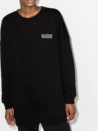 Software logo embroidered sweatshirt