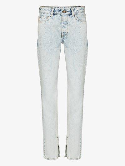 split cuff slim jeans
