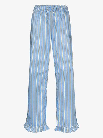 striped cotton pyjama bottoms
