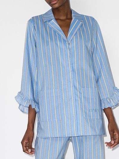 striped cotton pyjama shirt