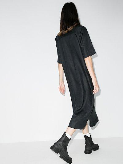 stud embellished shirt dress
