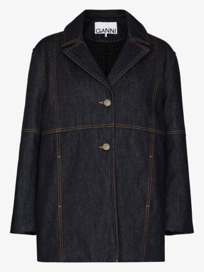 topstitched denim jacket