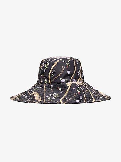 X Browns 50 black printed bucket hat
