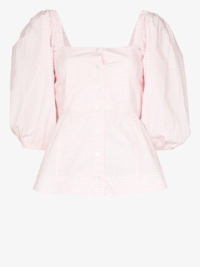 X Browns 50 gingham peplum blouse